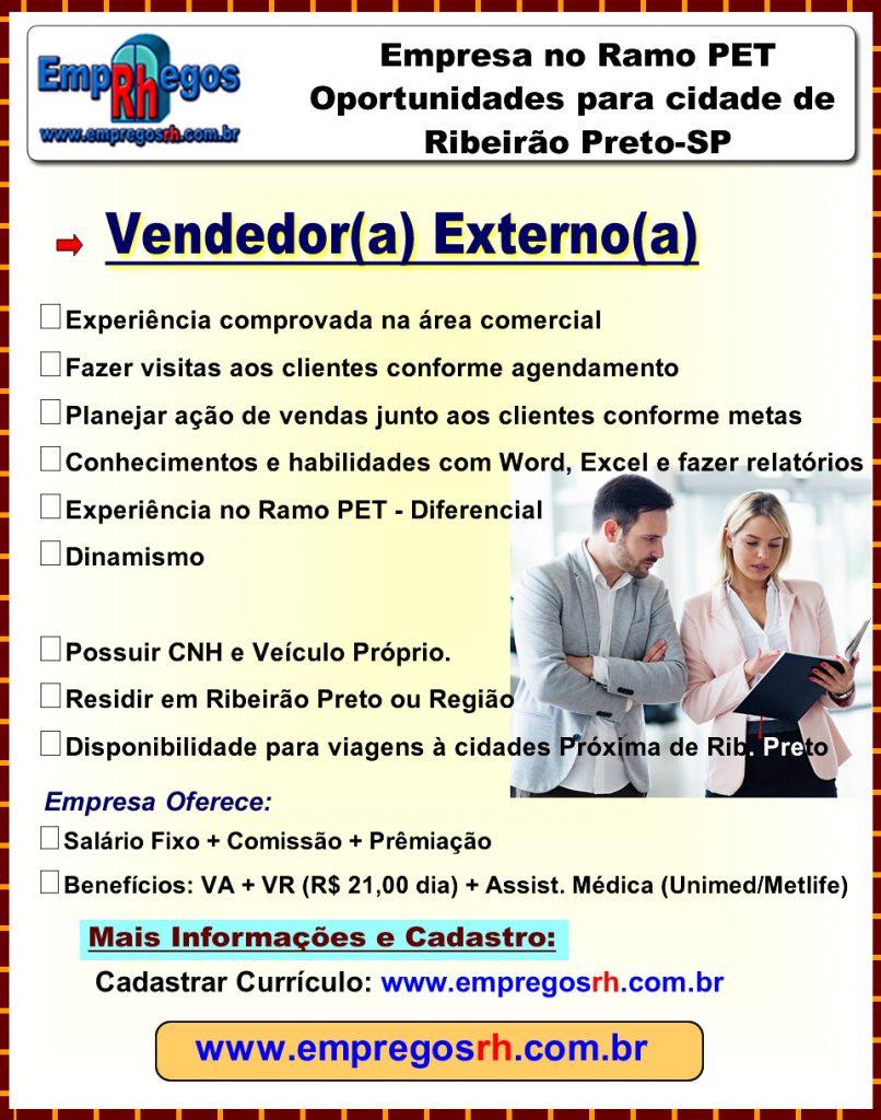 Vendedor(a) Externo(a) Ramo PET