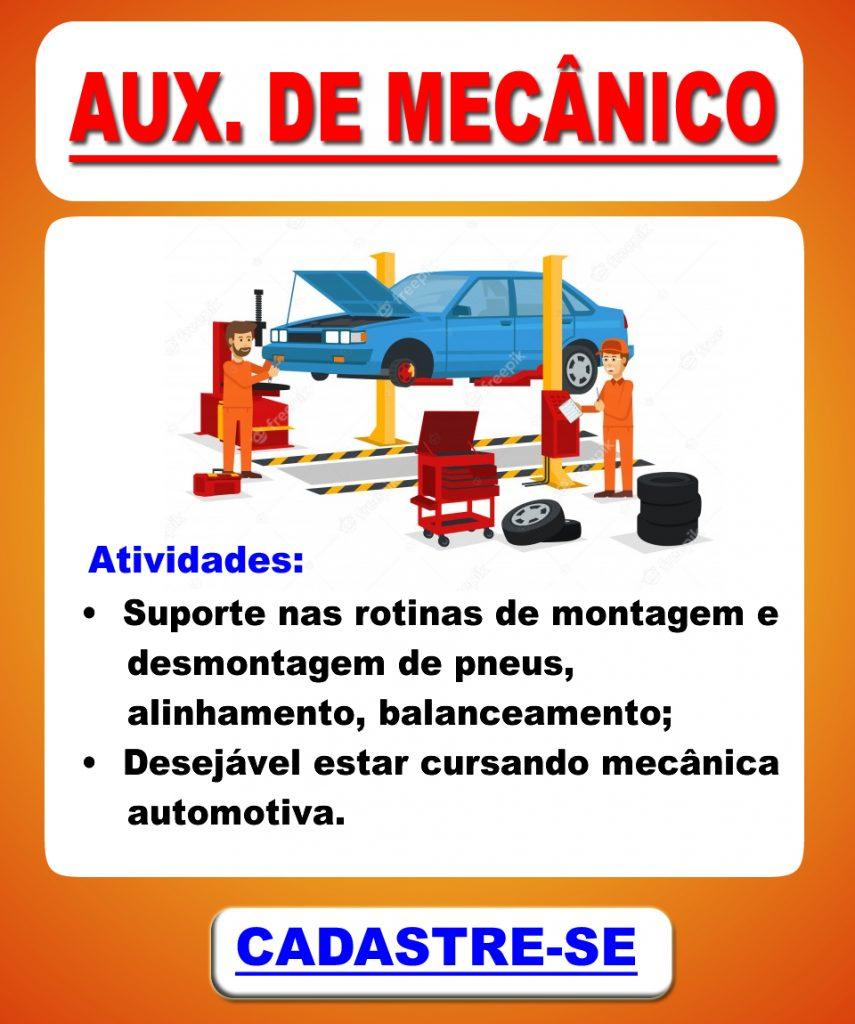 Vaga de Auxiliar de Mecânico