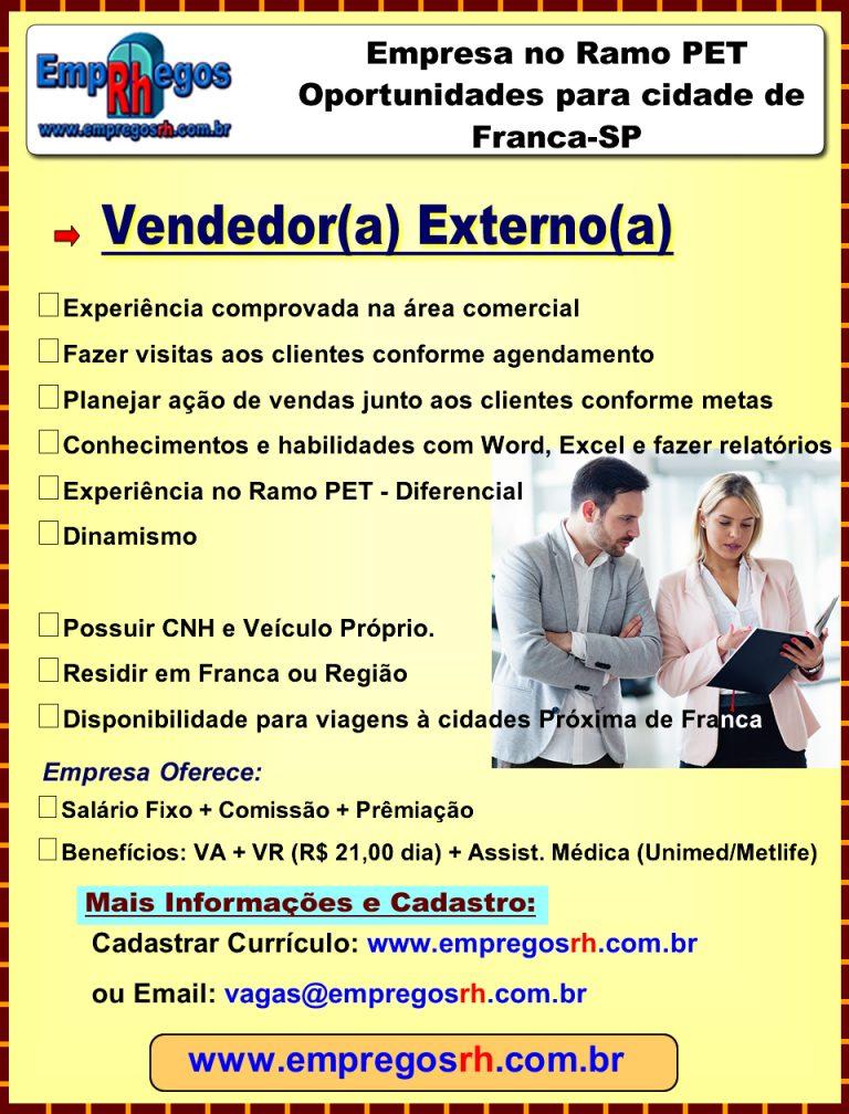 Vendedor(a) Externo(a) - Franca Ramo PET
