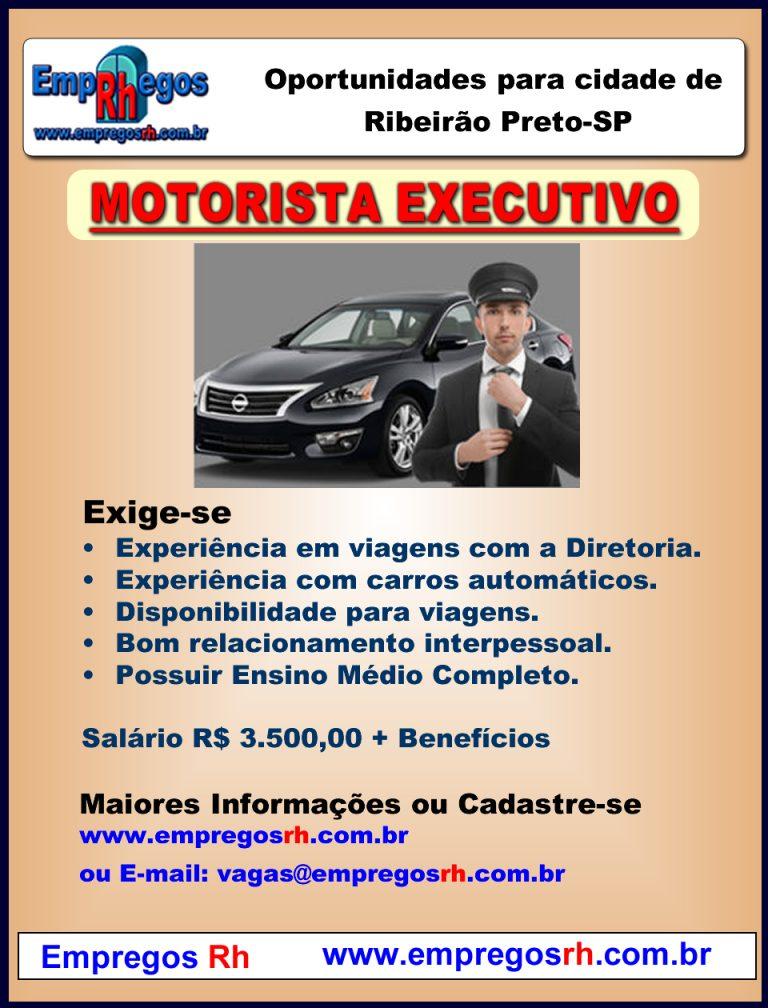 Vaga de Motorista Executivo