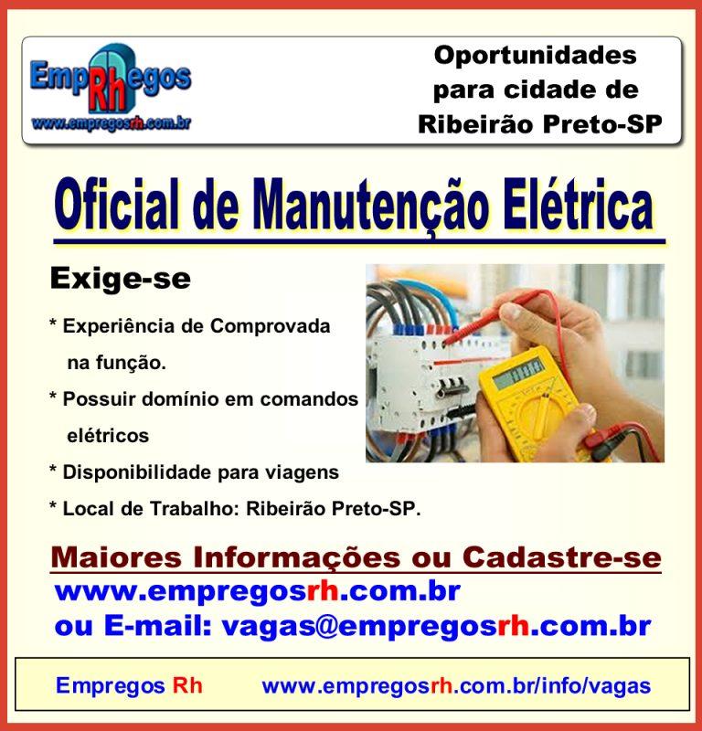 Vaga Oficial de Manutenção Elétrico