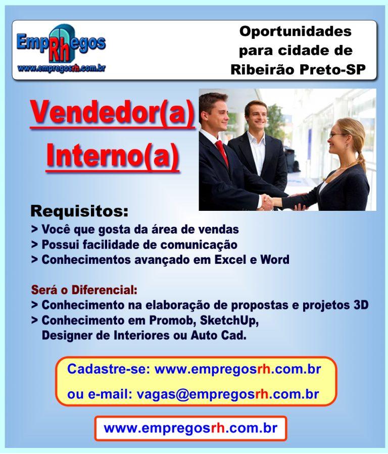 Vaga de Vendedor(a) Interno(a)